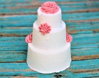 I Do Bath Bomb Artisan Wedding Cake Bath Fizz Rose Lemonade Bath Bomb Bubble Bath Frosting Floral Spring Shower Favor Wedding Party Gift