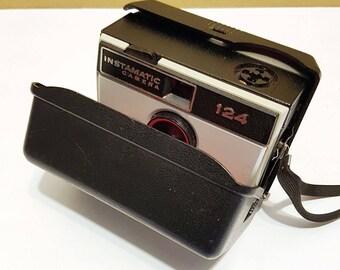 Vintage 1960s Kodak Instamatic 124 Camera, With Hard Case