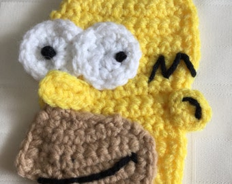 Crochet Applique Pattern Inspired by Homer Simpson.