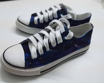 Custom handpainted galaxy shoes