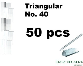 Triangular felting needles, Gauge 40. Price for 50pcs. Made in Germany.