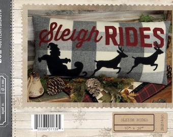 Sleigh Rides Pillow Quilt Buttermilk Basin Pattern Santa Reindeer