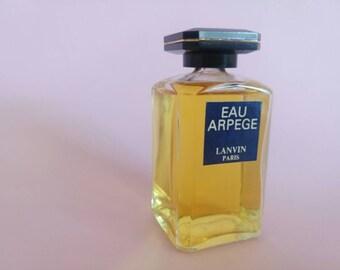Vintage Eau Arpege Lanvin Paris full bottle