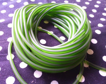 1 meter cord 2 mm PVC, Khaki Green