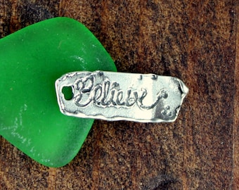 Believe Charm Sterling silver Tag