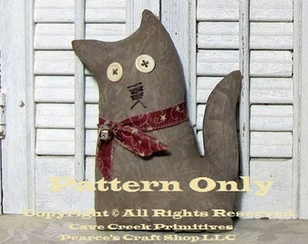 Primitive Cat Pattern, Animal Patterns, Primitive Cats, Cat Patterns, Primitive Animals, Craft Patterns, Primitive Dolls, Country Farmhouse
