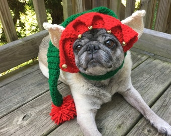 Christmas Elf /  Dog Hat / Made To Order