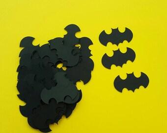 Confetti - 120 pieces - Batman like Confetti - superheroes- superhero confetti- batman birthday party confetti