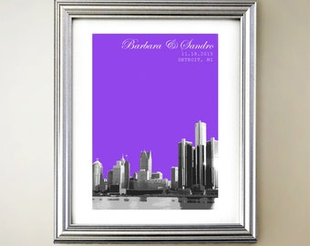 Detroit Personalized Cityscape