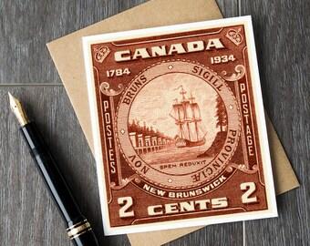 new brunswick retirement cards, new brunswick birthday cards, sympathy cards, canadian postage stamps, teacher retirement, mom birthday card