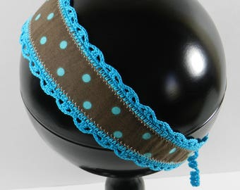 Turquoise and Brown Hair Accessories
