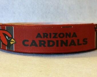 7/8 Arizona Cardinals Grosgrain Ribbon