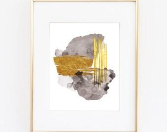 Abstract Printable Art | Watercolor Printable Art | Modern Art | Glam Art | Glam Decor | Gold Abstract Printable | Glam Home Decor |