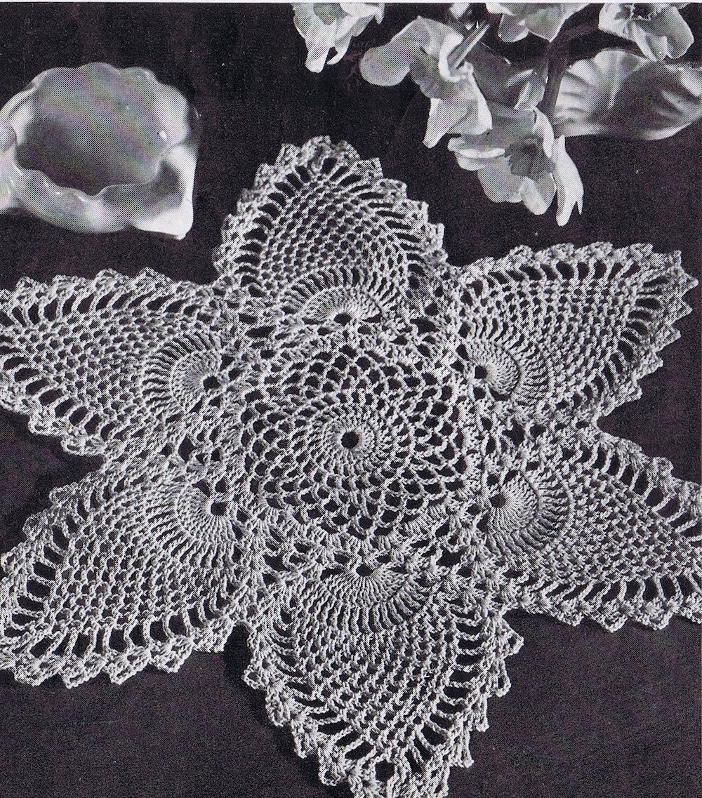 Doily Centerpiece Tablecloth Pineapple Doily Vintage
