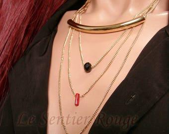 Long gold triple chain chic MAKOALANI