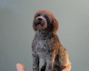 Custom Made Wirehaired Pointing Griffon, Needle Felted Dog, Deutsch Drahthaar, German Shorthaired Pointer or any other breed- made to order