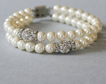 Wedding Bracelet Pearl Bridal Bracelet Pearl Bracelet Bridal Jewelry Cocktail Jewelry