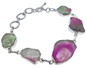 S/S Tourmaline Slice Bracelet