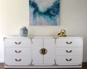 SOLD*** Lacquered White Dresser **** SOD