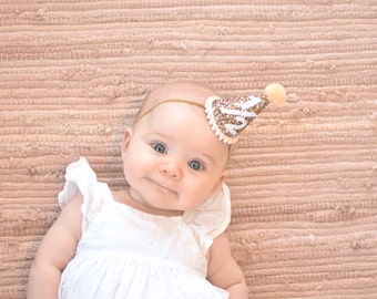 Half Birthday Glitter Party Hat Cone Hat Glitter Fabric Little Blue Olive
