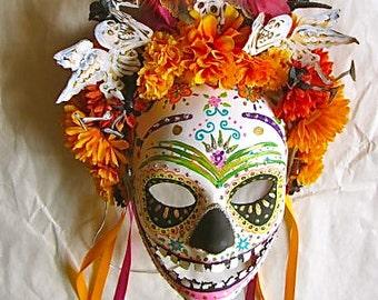 Día de los Muertos/ Day of the  Dead Mask Hand Painted