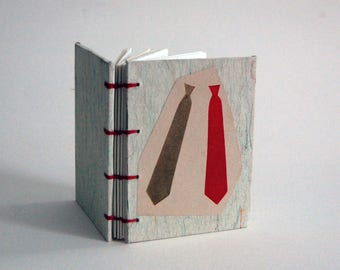 Little Blank Book - Red and Green Ties