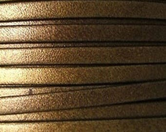 20 cm 5mm flat leather antique gold