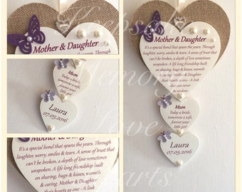 Gift for Mother of the Bride Wooden Keepsake Heart