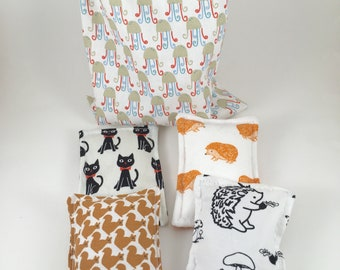 Cushions sensory quiet baby touch - inspired by the method of Montessori - animal theme