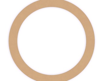 Quantity of three 10 inch Unfinished Wood Ring Cutout Craft Shapes.