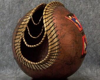 Fine Gourd Art - Spiders Web