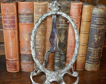 Vintage French Silver Chrome Art Nouveau Roses Picture Frame