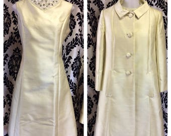 Banana Cream Dress with Swing Coat