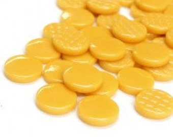 18mm Round Gloss - Mustard Gloss- 50g