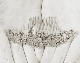 Wedding Hair Comb - Bridal Hair Comb - Bridal Comb Headpiece - Crystal Bridal Comb - Rhinestone Wedding Comb - Wedding Hair Piece