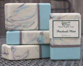 Patchouli Mint Handmade Artisan Soap