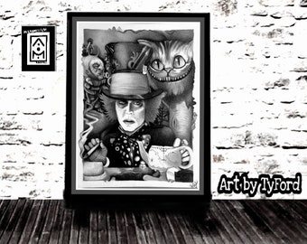 Mad Hatter black and grey