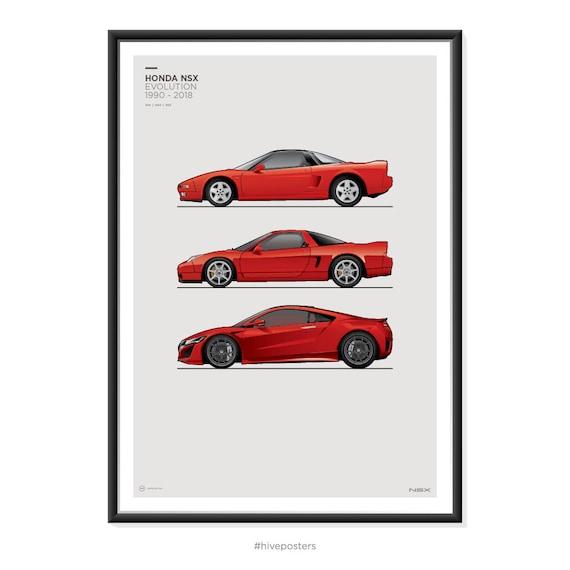 Delightful Honda NSX Generations Poster