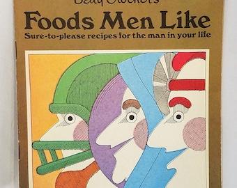 Foods Men Like Vintage Recipe Booklet Betty Crockers Advertising Pamphlet 1970 Illustrated