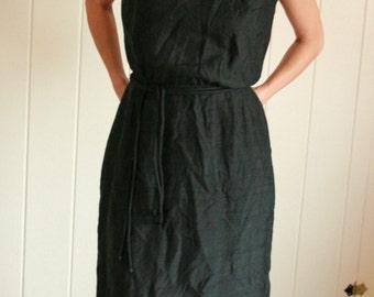 Vintage 1960s Classic Black Dress