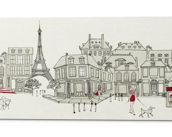 """Giclee Canvas Wall Art """"World Cafe II Paris Panoramic"""" by Avery Tillmon"""