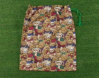 Teddies large drawstring bag for storage, toys, kindy sheets, baby items