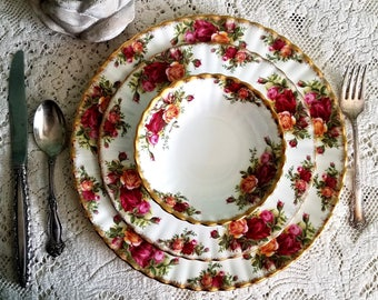Royal Albert Old Country Roses Bone China- Dishes, Cups & Saucers, Sandwich Tray, Sugar Bowl, Berry Bowls + More- Gorgeous