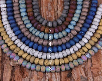8colros for choice,Titanium Druzy Geode Rondelle Beads Cabochon Pendants,Raw Frosted Drusy Agate Stone Abacus for Bracelet Craft