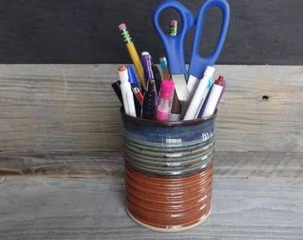 ceramic pencil cup etsy