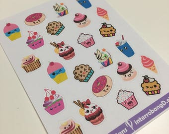 A108 - Kawaii Sweets Stickers - Planner Stickers - Erin Condren Happy Planner