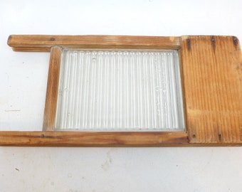 Vintage Crystal Washboard - Doll Sized Crystal Washboard- Glass Washboard - Child's Washboard