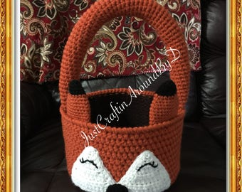 Crochet Fox Basket
