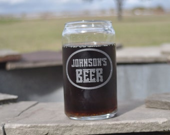 Beer Can Shaped Glass for Man Cave, Home Bar, Groomsman, Ushers, Best Man Gift  by Jackglass on Etsy.com