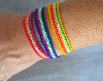Peruvian Rainbow Friendship Bracelets